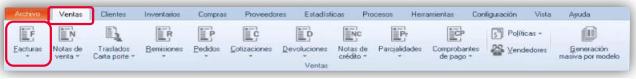 Fig. 30 Generar la afectación al cliente desde Ventas/ Facturas.